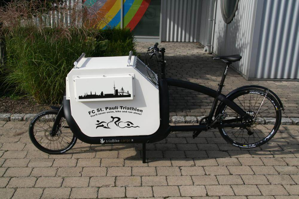 Cargo-Bike mit Hundebox